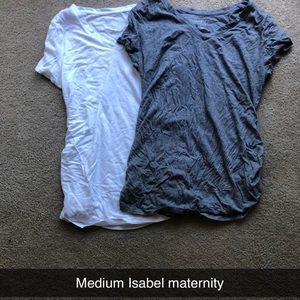 Two Medium Isabel maternity T-shirt's